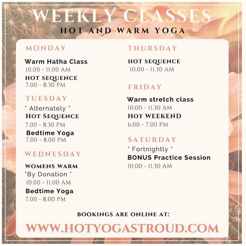 Hot Yoga Stroud timetable