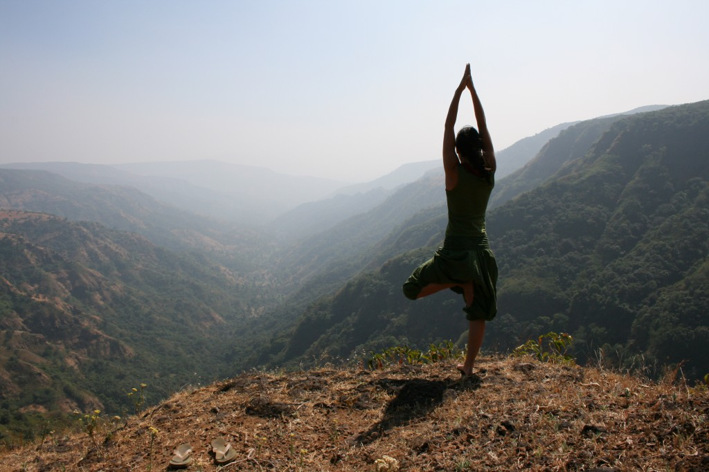 Vrksasana or the Tree Pose, Mahableshwar